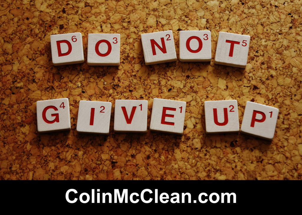 Job Interview Advice - Don't Give Up, Visit ColinMcClean.com