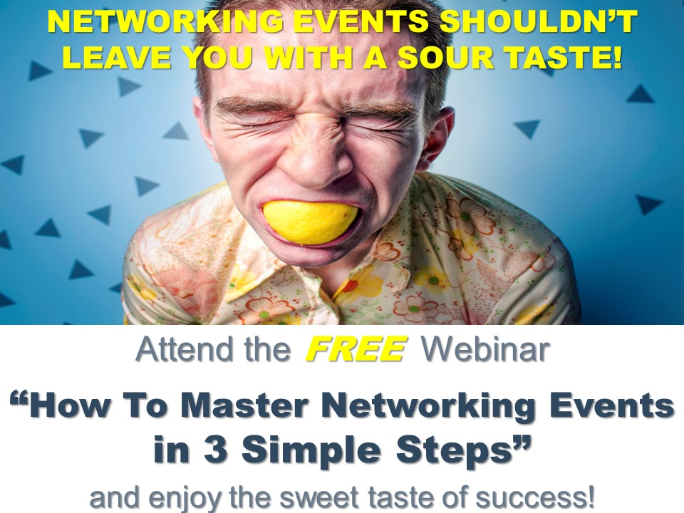 Free How Master Networking Events Webinar